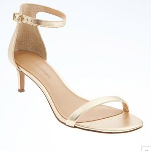 Banana republic gold sandals
